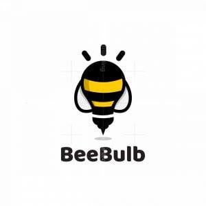 Bee Light Bulb Logo