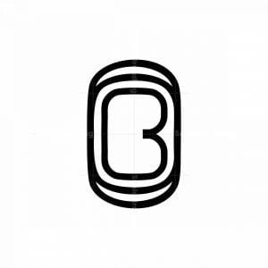 Cool Letter B Or Bo Initial Monogram Logo