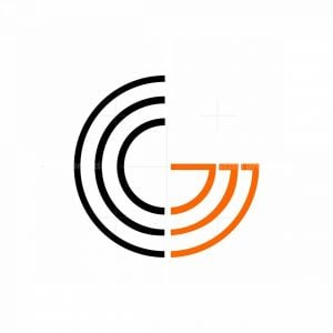 Cool Letter Cg Initial Monogram Logo