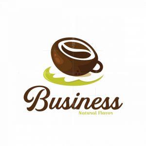 Coconut Coffee Symbol Logo