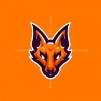 Demon Fox Kitsune Esports Mascot Logo Design