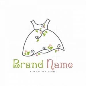Eco Dress Style Symbol Logo
