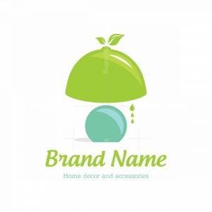Fresh Lemon Lamp Symbol Logo