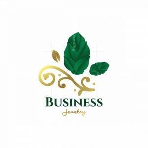 Golden Branch Jewelry Symbol Logo