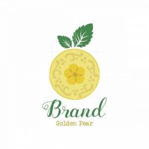Vintage Golden Pear Symbol Logo