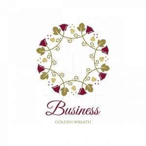 Golden Wreath Symbol Logo