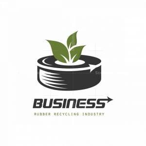 Green Tire Symbol Logo