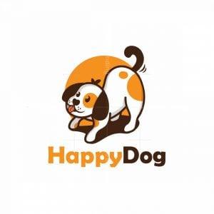 Happy Playful Dog Logo
