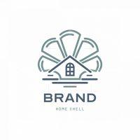 Home Shell Real Estate Symbol Logo