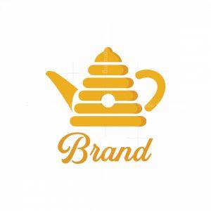 Honey Tea Symbol Logo