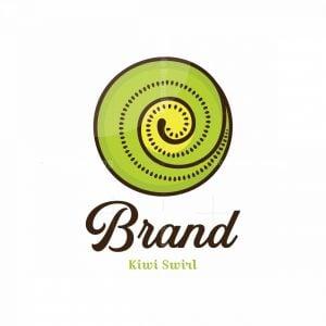 Kiwi Swirl Symbol Logo