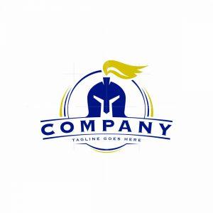 Knight Helmet Emblem Logo