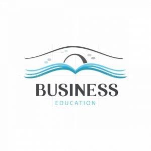 Knowledge Bridge Education Symbol Logo