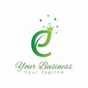 Letter Ej Nature Queen Logo