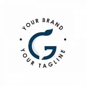 Letter G Whale Logo