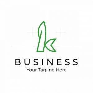 Letter K Leaf Logo