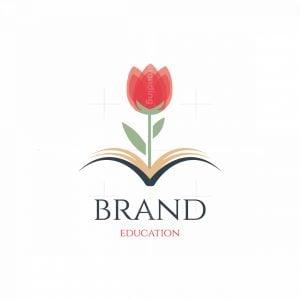 Lotus Book Education Symbol Logo