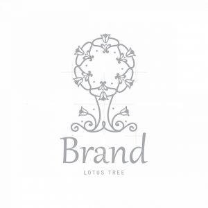 Lotus Tree Symbol Logo