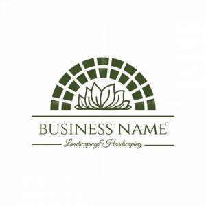 Ornate Garden Landscaping Symbol Logo