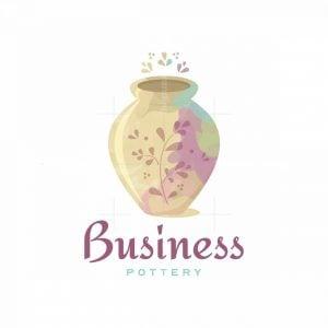 Pottery Garden Artistic Logo