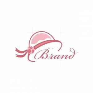 Rose Hat Fashion Symbol Logo