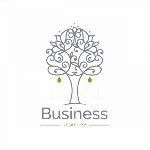 Silver Tree Symbol Logo