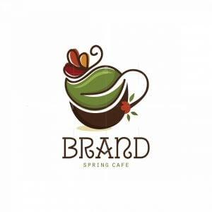 Spring Cafe Symbol Logo
