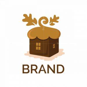 Square Acorn Home Symbol Logo