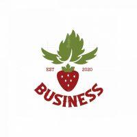 Strawberry Farm Symbol Logo