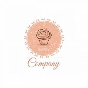 Sweet Cupcake Bakery Blossom Symbol Logo