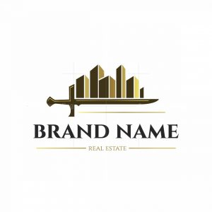 Tough Sword Real Estate Symbol Logo