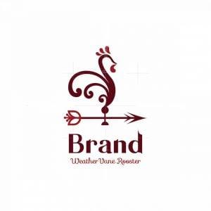 Weather Vane Rooster Symbol Logo