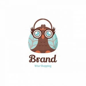 Wise Shopping Character Logo