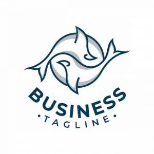 Yin Yang Whale Logo