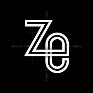Letters Z And E Symbol Logo