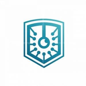 Vision Tech Shield Secure Logo