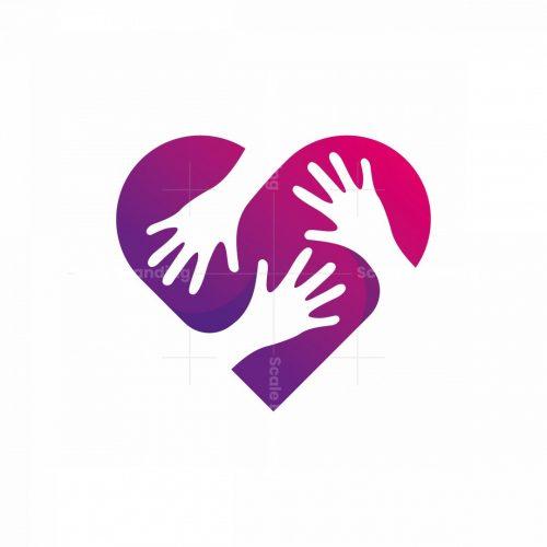Creative Hand Heart Logo