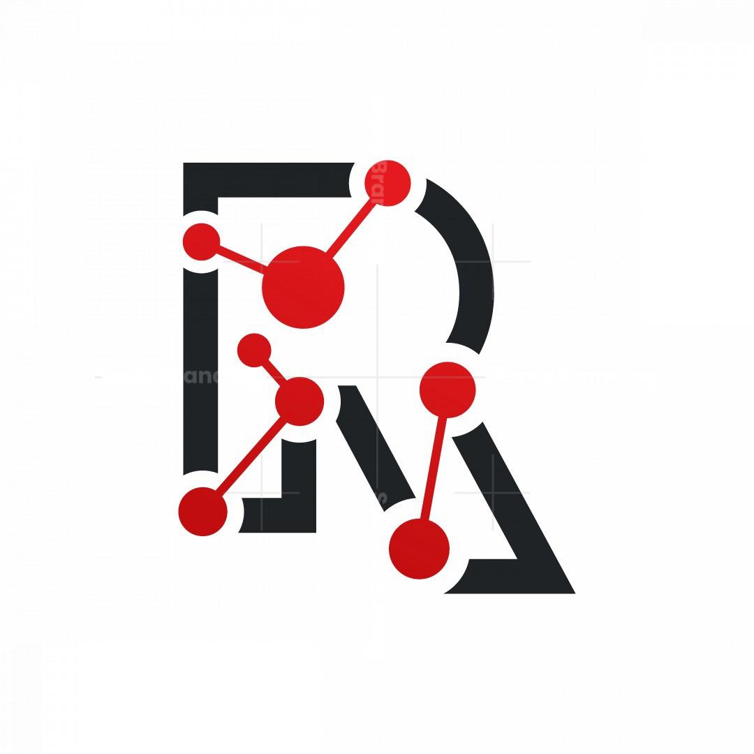 R Letter Molecular Logo