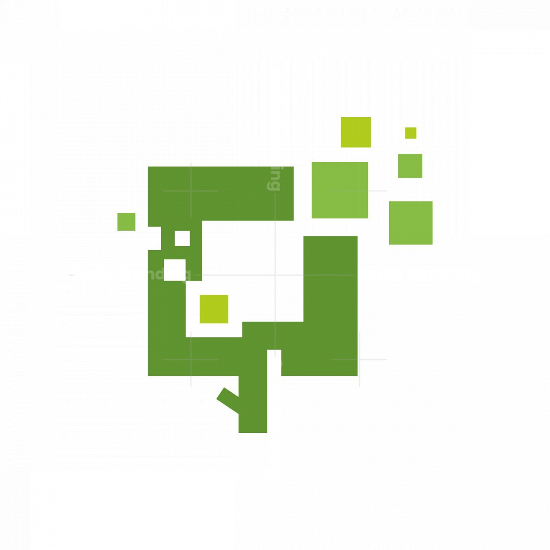 Tree Pixel Logo