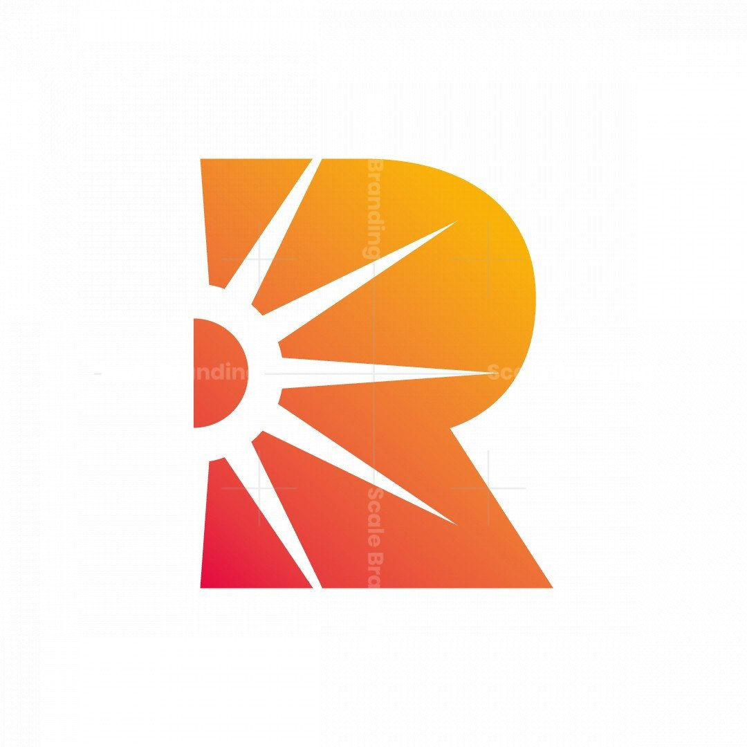 Letter R And Sun Logo