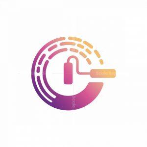 Creative Paint C Letter Logo
