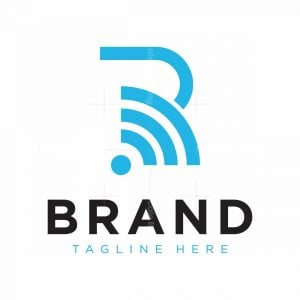R Letter Signal Logo