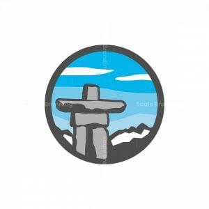 Balanced Inukshuk Logo