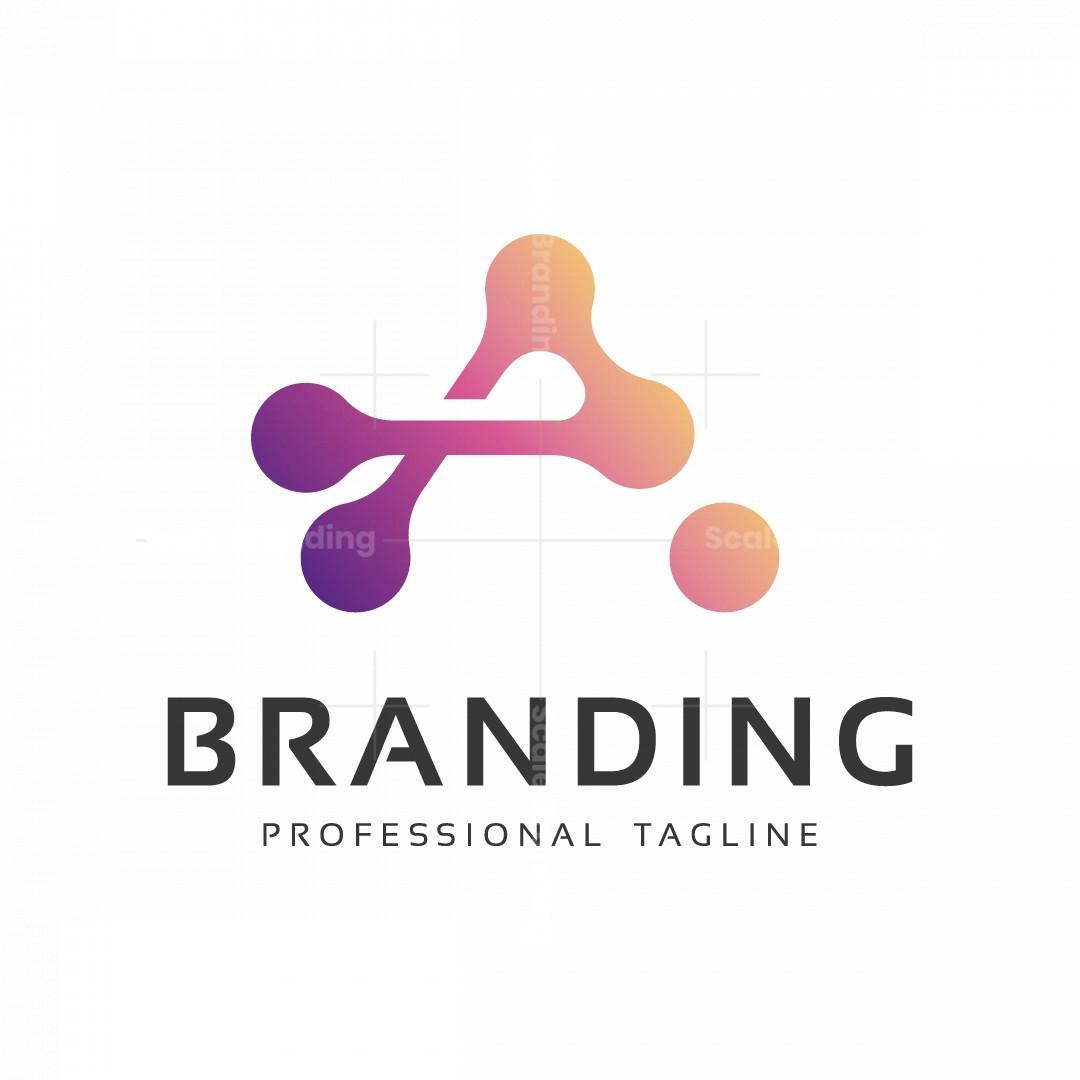Abstract A Letter Tech Logo