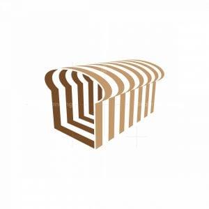 3d Bread Slices Logo