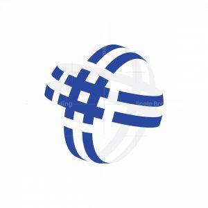 3d Hashtag Logo