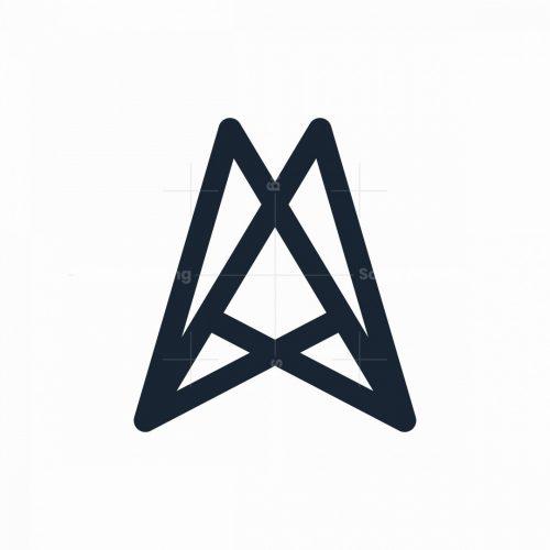 A Or Aa Monogram Logo