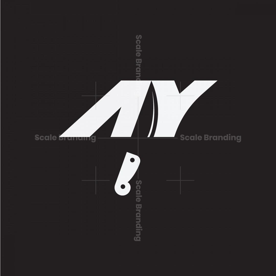 Letter Ay Knife Logo