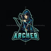 Archer Girl Mascot Logo
