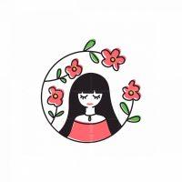 Beauty Flower Girl Logo